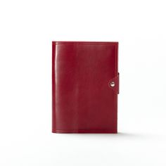 Red Medium Snap Journal | Italian Dark Cherry Leather