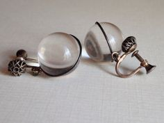 Pools Of Light Earrings Undrilled Rock Crystal by HeyThatsAwesome