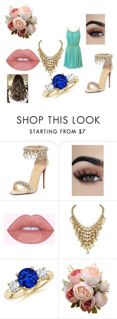 """Prom Dress 1"" by fashion-853 ❤ liked on Polyvore featuring Christian Louboutin"