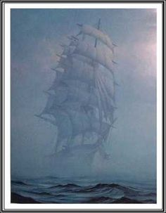 The Lady Lovibond - sailed out of port in February of 1748 when the captain took his new bride out for a cruise to Portugal. In a fit of jealous rage, the 1st mate (who was in love with the captain's wife) attacked the helmsman and sailed the ship into the notorious Goodwin Sands. All souls were lost. 50 years to the day, two ships witnessed the phantom ship sailing the same area. It's been spotted every 50 years since, occasionally surrounded by a green glow.