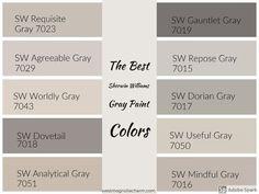 Greige Paint Colors, Bedroom Paint Colors, Exterior Paint Colors, Paint Colors For Living Room, Paint Colors For Home, House Colors, Warm Gray Paint Colors, Gray Living Room Walls, Colours That Go With Grey