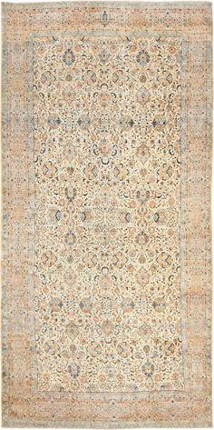 Oversize Ivory Background Antique Kerman Rug 47527 Main Image - By Nazmiyal http://nazmiyalantiquerugs.com/antique-rugs/antique-product-type/oversize-ivory-background-antique-kerman-rug-47527/