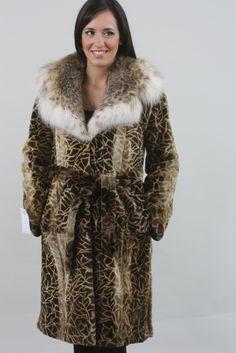 Sheared Leopard Mink Fur Coat Lynx Collar - SKANDINAVIK FUR Shearing, Mink Fur, Lynx, Fur Coat, Jackets, Fashion, Down Jackets, Moda, Fashion Styles