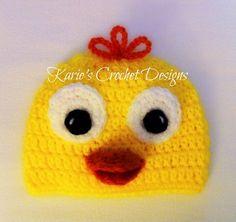 DUCK DUCKIE RUBBER Handmade Crochet Hat by KariesCrochetDesigns, $16.99