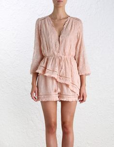 Henna Floating Fringe Playsuit