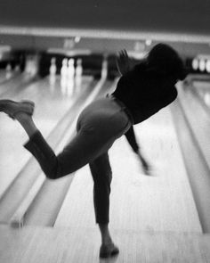 """From the December 12, 1960 essay """"The Social Whirl of Ladies Bowling"""" - Phyllis Mercer of Evanston Ill. """"displays the verve with which eight million U.S. women have invacded the sport of bowling and transformed the nation's 134,000 lanes into the..."""