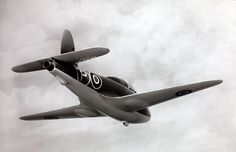 """The Gloster E.28/39, (also referred to as the """"Gloster Whittle"""", """"Gloster Pioneer"""", or """"Gloster G.40"""") (1941) was the first British jet-engined aircraft to fly. It was designed to test the Whittle jet engine in flight, leading to the development of the Gloster Meteor. Early prototype without auxiliary fins"""