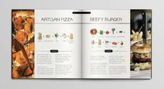 Recipe Book Design with icons and photos // neat idea adding the icons to show what the ingredients are.