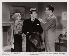 Rosalind Keith, George Raft and Ray Milland - The Glass Key (1935)