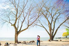 Our Cleveland engagement session began at Edgewater Park