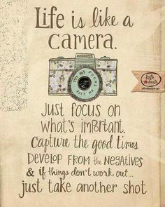 Focus on tje important things