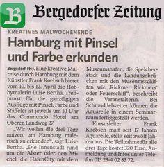 Malreise Hamburg – unser erster Tag in der Hafencity   Hamburg mit Pinsel und Farbe erkunden – Bergedorfer Zeitung vom 08.04.2015
