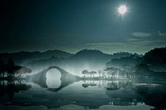Let the water settle and you will see the moon and stars mirrored in your being - Rumi