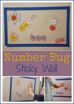Number Bug Sticky Wall. Helps kids learn to recognize numbers.