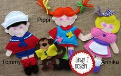 Pippi Longstocking Felt HOUSE Story TOTE and door LindyJDesign