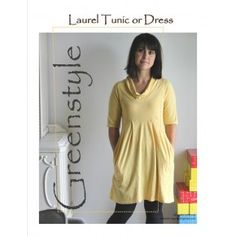 Laurel Dress or Tunic Downloadable Sewing Pattern by GreenStyle