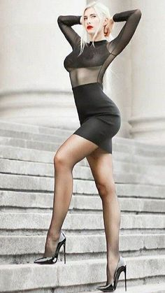 Women With Beautiful Legs, Lovely Legs, Great Legs, Sexy Legs And Heels, Sexy Feet, Sexy Outfits, Sexy Dresses, Pantyhose Outfits, Nylons