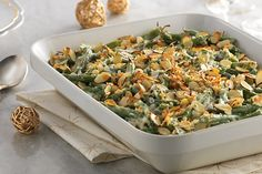Topped with a crunchy panko bread crumb crust, this casserole brings out the best in a batch of green beans. This veggie side dish is easy, tasty and versatile.