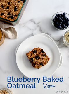 This easy baked oatmeal casserole recipe is packed with delicious flavors from banana, peanut butter and blueberries. It's incredibly easy to make this healthy vegan baked oatmeal and the recipe is customizable! #Vegan #VeganRecipe #VeganBreakfast #VeganOatmeal #VeganGlutenFree #GlutenFreeVegan #VeganCooking #VeganMeal #VeganMealPrep #PlantBased #DairyFree #DairyFreeRecipe #Eggless Vegan Gluten Free Breakfast, Vegan Breakfast Recipes, Vegan Snacks, Vegan Baked Oatmeal, Baked Oatmeal Recipes, Blueberry Recipes, Banana Recipes, Vegan Baking, Healthy Baking
