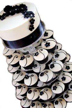 Cupcake preto e branco