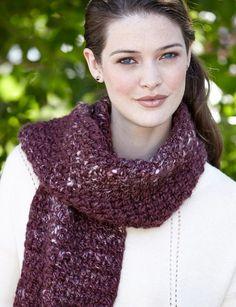 Yarnspirations.com - Patons Corrugated Scarf - Patterns   Yarnspirations   crochet   Free pattern
