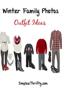 Winter Family Photos Outfit Ideas Are you planning a family photo session this winter? Here are some Winter Family Photo Outfit Ideas for you! Sometimes I think this is the hardest part of planning for family photos, picking out the clothes!