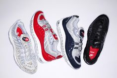 Supreme Presents Nike Air Max 98 Collaboration. Dropping online April 28
