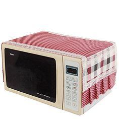 Yontree Linen Cotton Fridge Oven Cover Cloth Table Mat Kitchen Dinning Table 39.4x13.8 inches 1PC StyleD