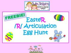 FREEBIE! Easter Egg Hunt Articulation - /R/ Sound Game & Activity - Pinned by @PediaStaff – Please Visit  ht.ly/63sNt for all our pediatric therapy pins