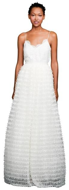A J.Crew wedding gown (It's two pieces, a camisole and skirt)