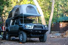 The American Adventurist Tacoma is looking pretty awesome with an AT Overland Equipment flip-pac.