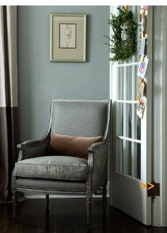 Great little reading niche House And Home Magazine, Wingback Chair, Accent Chairs, Reading, Christmas, Furniture, Home Decor, Upholstered Chairs, Xmas