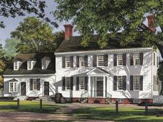 77 best Colonial House Plans images on Pinterest   Colonial house     Classical Colonial House Plans with Style  Astonishing Colonial House Plans  White Wooden Exterior Design