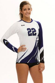This Women's Boa sublimated volleyball jersey launched in shows off the possibilities of Sublimation. It offers a lightweight polyester spandex volleyball uniform for juniors with sizing down to XXS. Volleyball Uniforms, Athletic Girls, Spandex, Sport Girl, Half Sleeves, Athlete, Female, Long Sleeve, Shorts