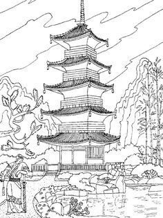Landscape Adult Coloring Page