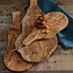 Olive Wood Paddle Cheese Board