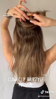 Long Hair Ponytail, Hair Ponytail Styles, Curly Hair Styles, Stylish Ponytail, Clip Hairstyles, Pretty Hairstyles, Braided Hairstyles, Hair Tutorials For Medium Hair, Medium Hair Styles