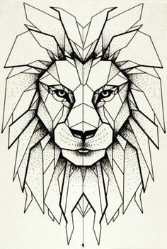 Risultati immagini per geometric lion