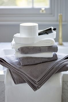 Wrap yourself in luxurious Egyptian cotton towels, coming in a wide range of colours.