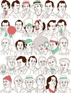 Derek Eads' tribute to Bill Murray for his birthday #billmurray #illustration