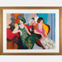 LOT 89 ITZCHAK (ISAAC) TARKAY	Itzchak (Isaac) Tarkay, (1935-2012) - In the Lounge, 1992, Medium: Serigraph on wove paper, Dimensions: H: 33 1/8 W: 45 Est: $200-400 With Certificate of Authenticity. Provenance William S. Fitts Trust UAD. Signature Signed lower right and numbered H.C. 11/15 lower left in pencil.