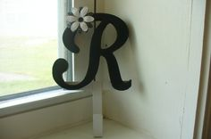 Dining room R scrolly letter