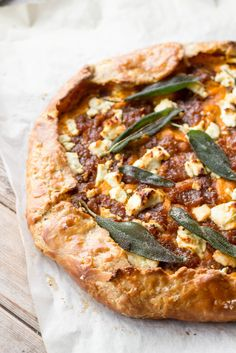 Brown Butter Pumpkin Galette with Caramelized Onions, Goat Cheese + Sage | Coley Cooks...