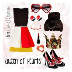 """Disney's Queen of Hearts"" by disn3y-dr3amer ❤ liked on Polyvore featuring Kain, FAUSTO PUGLISI, Please, MIA, Retrò, Giorgio Armani, women's clothing, women's fashion, women and female"
