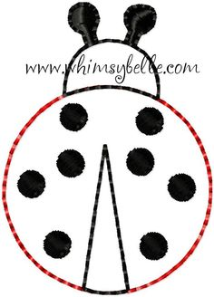 Lady Bug ITH In The Hoop Felt for Hairbow Centers Sewing Machine Embroidery Applique Design. $2.99, via Etsy.