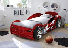 **New** Turbo Red Boys Children Kids 3 0 Single Car Bed  - Formula1 racing car