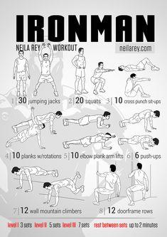 Ironman Workout - site full of free no-machine workout programs