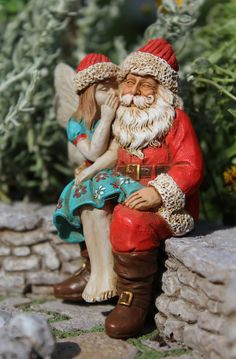 FAIRY ADELINE AND SANTA - Miniature Expressions