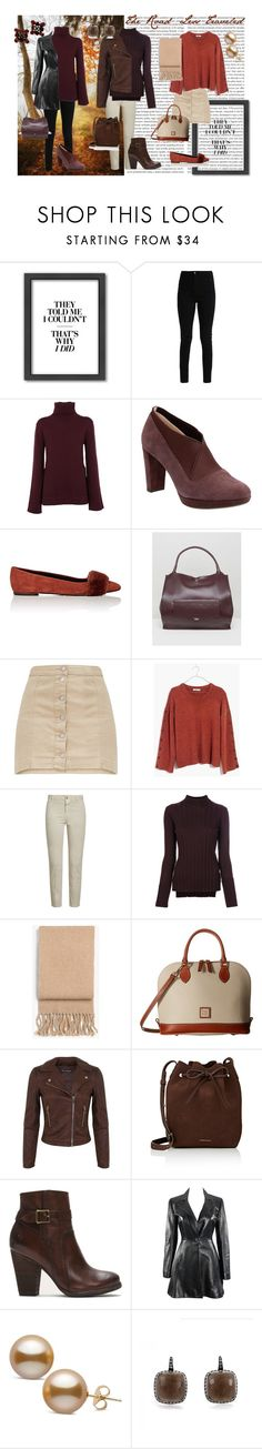 """""""Aya's Autumn Adventure"""" by laura-winters-1 on Polyvore featuring Americanflat, Saverio Palatella, Clarks, Barneys New York, Fiorelli, Madewell, Closed, Theory, rag & bone and Dooney & Bourke"""
