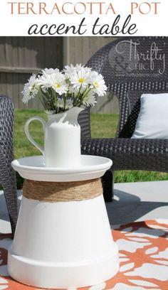 Terracotta Pot Accent Table